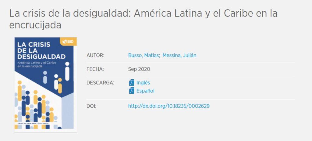 La crisis de la desigualdad: América Latina y el Caribe en la encrucijada