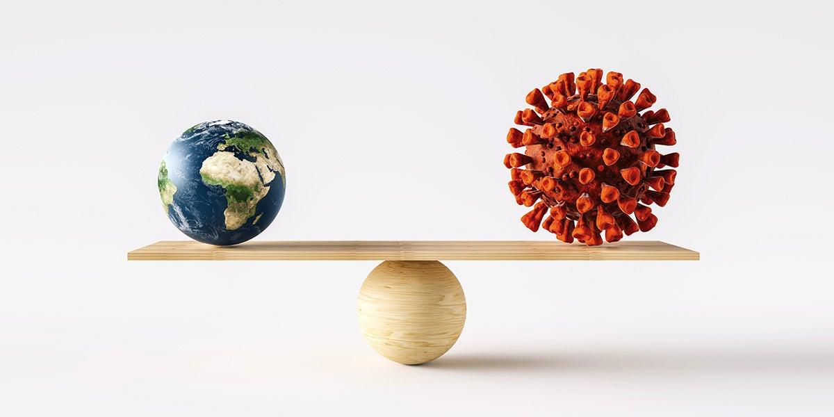 Cómo gestionar a la vez las crisis existenciales de la COVID-19 y del cambio climático