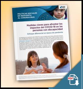 Medidas claves para afrontar los impactos del COVID-19 en las personas con discapacidad