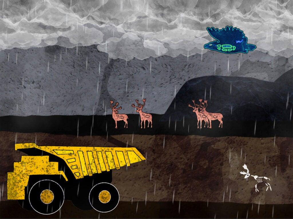 Imagen ilustrada un video juego de conocimiento indígena.