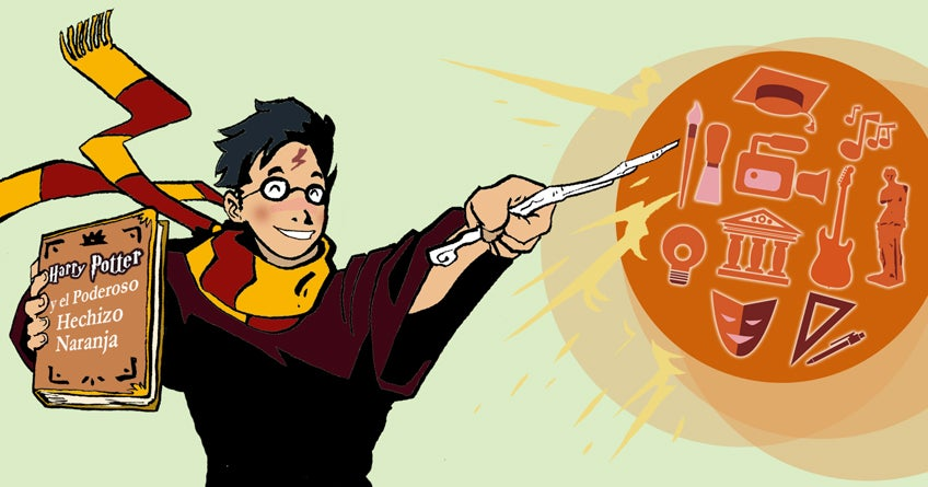 Harry Potter y el poderoso hechizo naranja