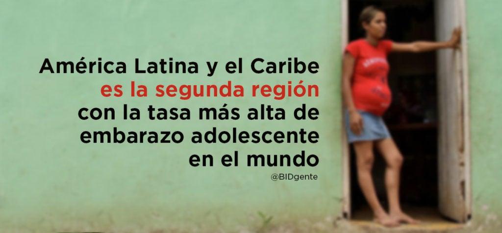 ¿Cuál es la segunda región en el mundo con la tasa más alta de embarazo adolescente?