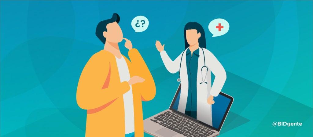 Doctor, míreme a mí y no a la pantalla