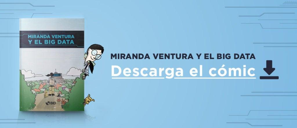 """Portada del libro """"Miranda Ventura y el Big Data"""" e invitación a descargarlo"""