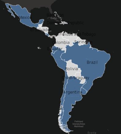 Mapa de la region