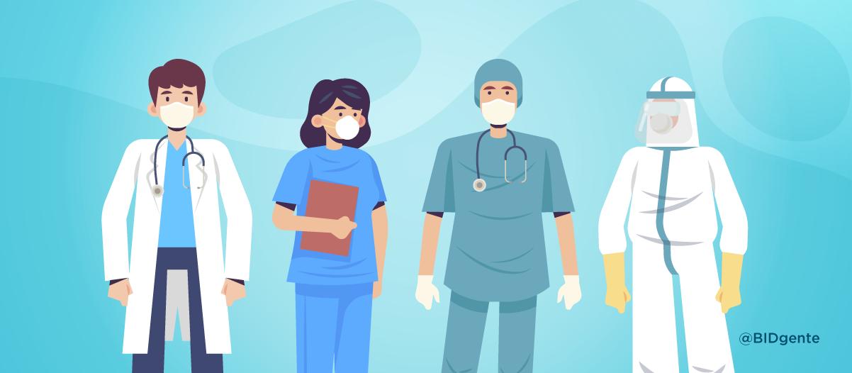 $ profesionales de la salud ilustración