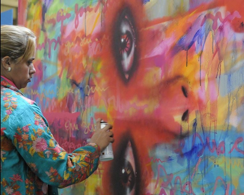 De vítima a heroína: Panmela Castro usa o grafite contra a violência doméstica