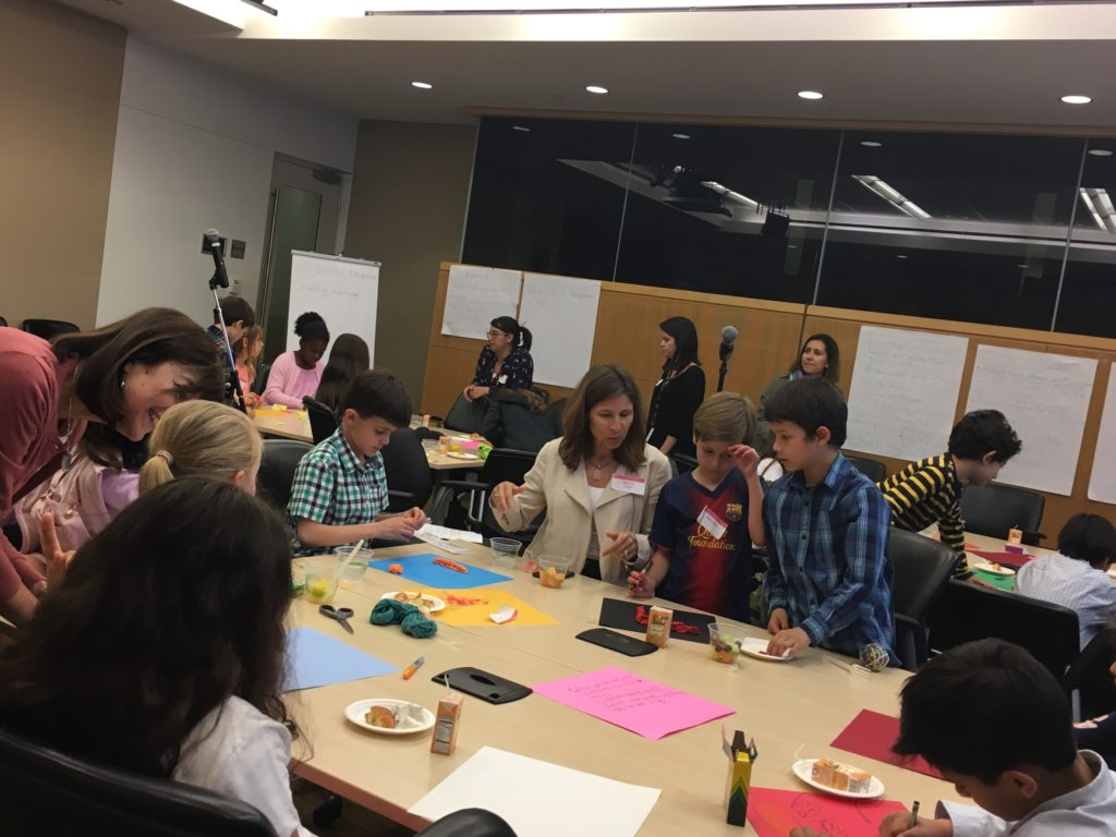 A group of kids used design thinking for crime solutions. They came up with three great ideas