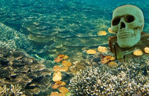 Piratas del Caribe: ¡el tesoro estaba en los corales!