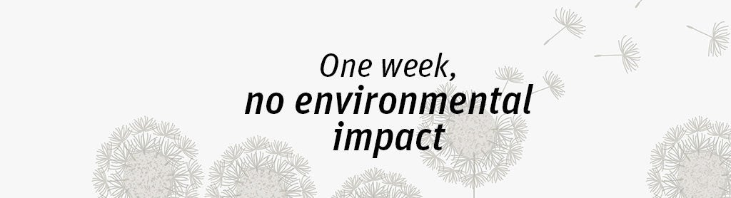Could you reduce your environmental impact for a whole week?