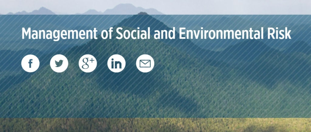 Enroll now! A new learning platform for managing environmental and social risk