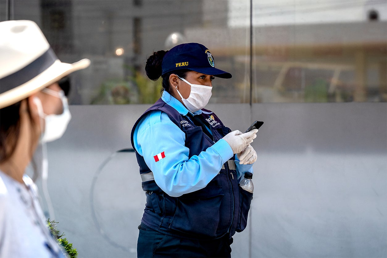 Guardia de seguridad en Perú