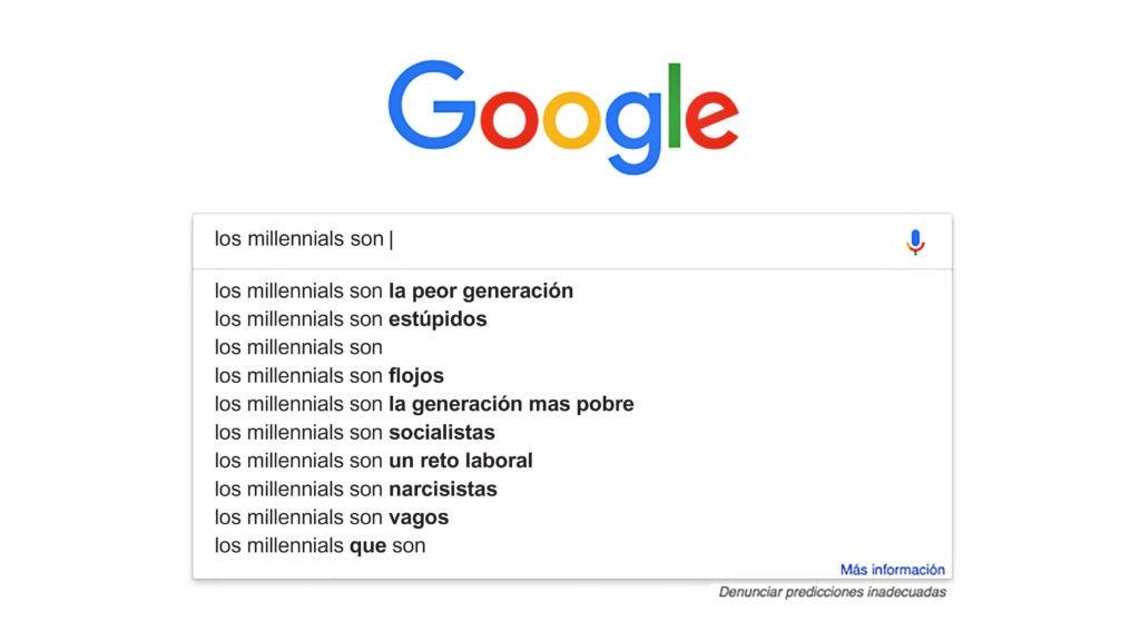 Búsqueda millennials en Google