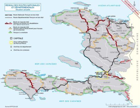 Sobrevolando las carreteras haitianas