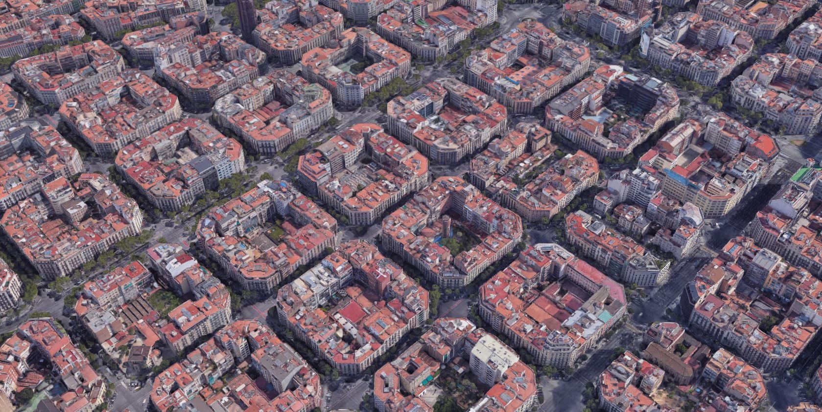 Vista aérea de Barcelona. Fuente - google