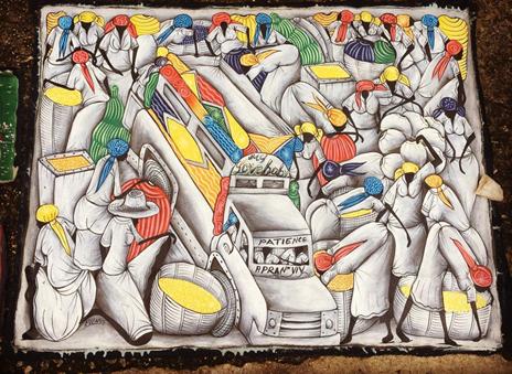 Cuadro del artista haitiano EVENS